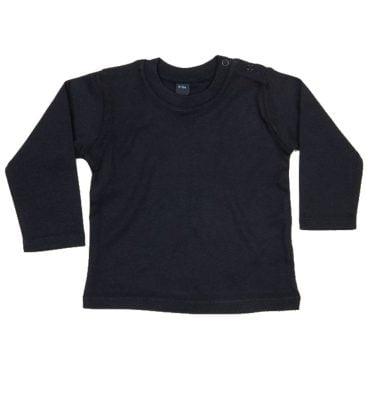 Zwart T-shirt lange mouw