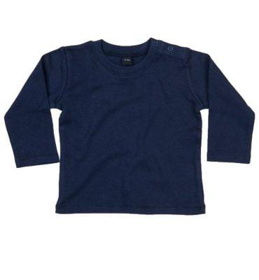 Navy blauw T-shirt lange mouw