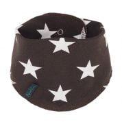 Donkerbruin sjaaltje met sterren