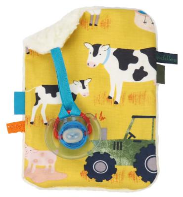Knuffeldoekje met boerderijdieren - Yellow Farm