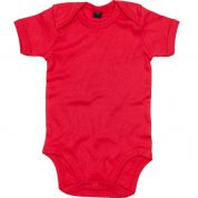 Rode effen romper - Basic body Red