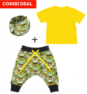 COMBI DEAL! Silly Circus en BASIC T-shirt Yellow