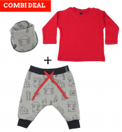 COMBI DEAL! Tiny Town en BASIC T-shirt Red