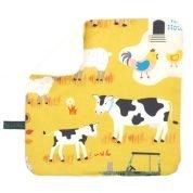 Monddoekje met boerderijdieren - Spuugdoekje Yellow Farm