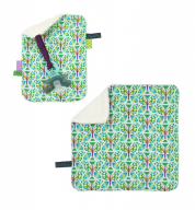COMBI DEAL! monddoekje en speendoekje Blooming Butterfly Green