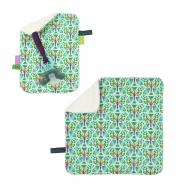 COMBI DEAL! monddoekje en speendoekje Blooming Butterfly Green