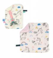 COMBI DEAL! monddoekje en speendoekje met eenhoorns - Unicorn Skies