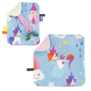 COMBI DEAL! monddoekje en speendoekje met eenhoorns - Unicorn Castles