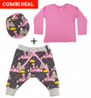 COMBI DEAL! Penguin Princess en BASIC T-shirt Pink
