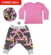 COMBI DEAL! Penguin Princess en BASIC T-shirt Pink