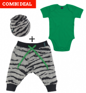 COMBI DEAL! Zebra Strikes en BASIC Body Green