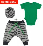 COMBI DEAL! Zebra Strikes en BASIC Body Green