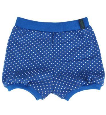 Kobalt blauw kort broekje met witte stipjes - Bloomer