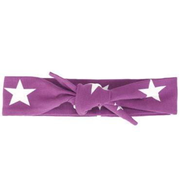 Hoofdbandje paars met witte sterren