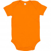 Oranje effen romper - Basic body Orange - GOTS Organic Cotton