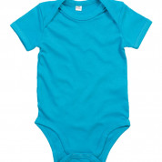 Turquoise effen romper - Basic body Surf Blue - GOTS Organic Cotton