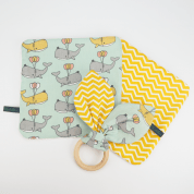 Baby cadeaupakket in walvissen print - Whale Party
