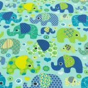 Mint broekje met olifanten - Loving Elephants