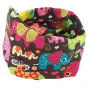 Infinity sjaal met olifanten – Loving Elephants Pink